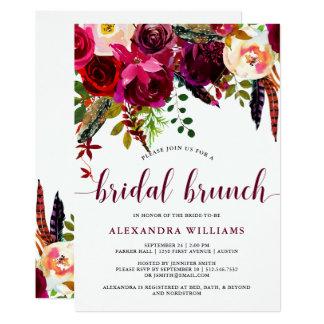 Boho Floral   Bridal Brunch Invitation