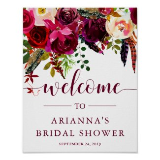 Boho Floral | Bridal Shower Welcome Sign
