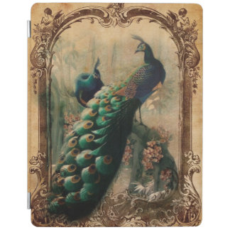boho floral french country modern vintage peacock iPad cover