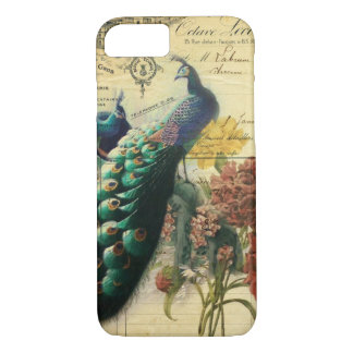 boho floral french country modern vintage peacock iPhone 8/7 case