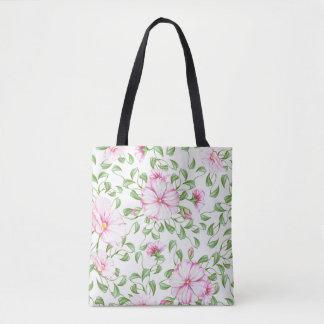 Boho Floral Print Tote Bag