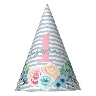 Boho Floral Spray Party Hat