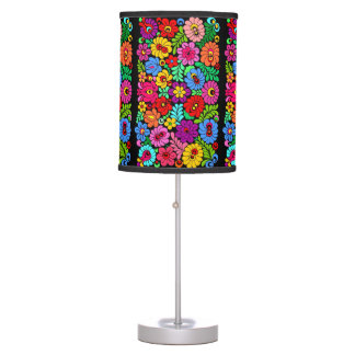 Boho floral table lamp