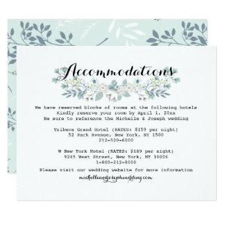 Boho Floral Wedding Accommodation Insert Card