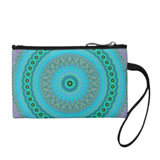 Boho flower coin purse