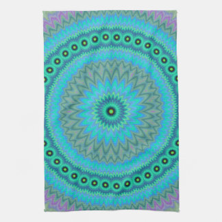 Boho flower kitchen towel