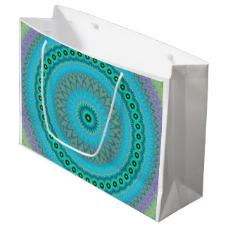 Boho flower large gift bag