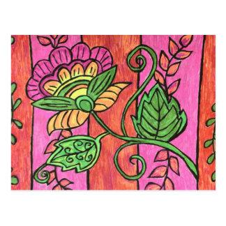 Boho Flower Postcard