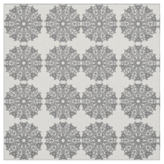 Boho Flower Wheel India Block Bohemian Fabric