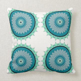 Boho Flower Wheel India Block Bohemian Pillow