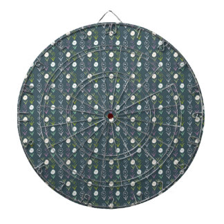 Boho flowers dartboard with darts