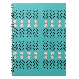 BOHO FOLK BLUE ORNAMENTS NOTEBOOK