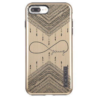 Boho Forever Young Infinity Pattern Gold Case