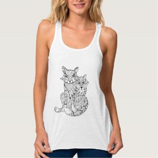 Boho Fox Doodle Tank Top