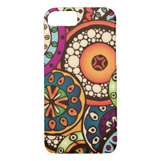 Boho Funky Trendy Retro Abstract Pattern iPhone 8/7 Case