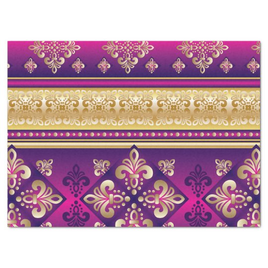 Boho Funky Trendy Retro Abstract Pattern Tissue Paper