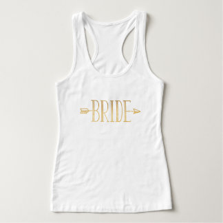 Boho Gold Arrow Bride Tank Top