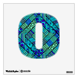 Boho Green blue abstract tribal pattern Wall Decal