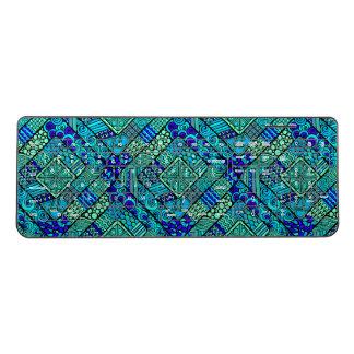Boho Green blue abstract tribal pattern Wireless Keyboard
