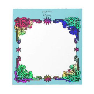 Boho Gypsy Floral Bohemian Colourful Folk Art Notepad