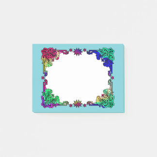 Boho Gypsy Floral Bohemian Colourful Folk Art Post-it Notes