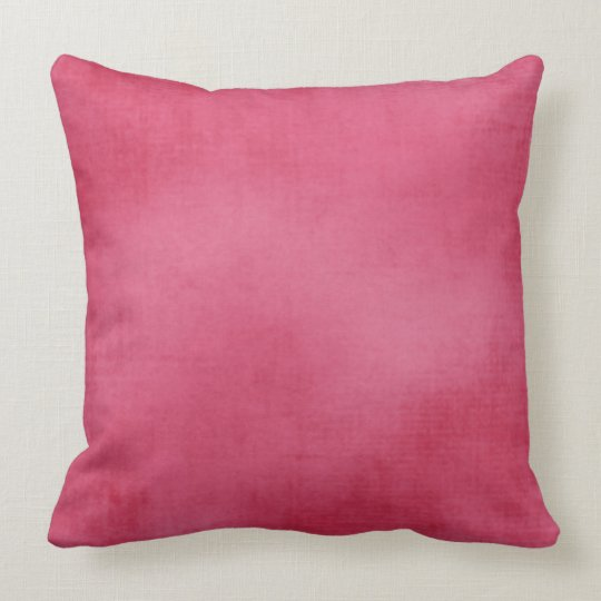 Boho Hippie Raspberry Worn Velvet Look Cotton Throw Pillow