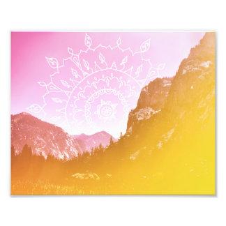 Boho Hipster Mandala Landscape | Photo Print