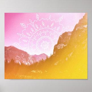 Boho Hipster Mandala Landscape | Poster