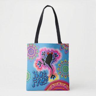 Boho Hot Frog Surf psychedelic Tote bag blues