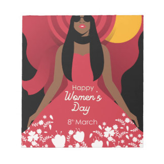 boho international womens day notepad
