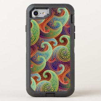 Boho Jewel-Tone Paisley Damask OtterBox Defender iPhone 7 Case