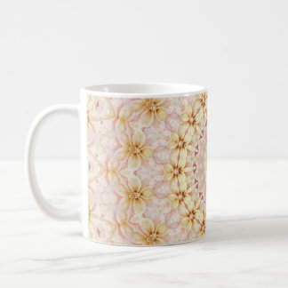 Boho Light Pink and Yellow Floral Mandala Coffee Mug