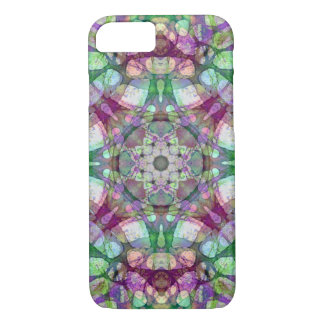 Boho Lilac Purple and Green Mandala iPhone 8/7 Case