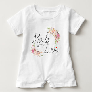 Boho Made with Love Baby Romper