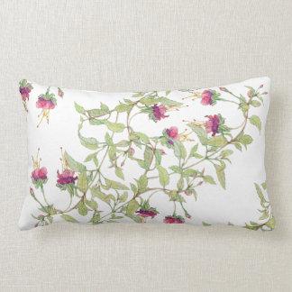 Boho Magenta Roses Floral Pattern Cushion Lumbar
