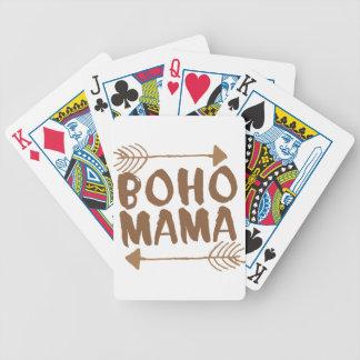 boho mama bicycle playing cards