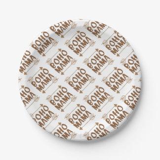 boho mama paper plate