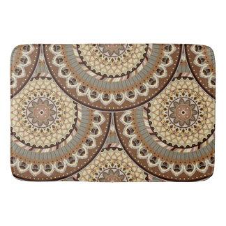 Boho mandala abstract pattern design bath mat