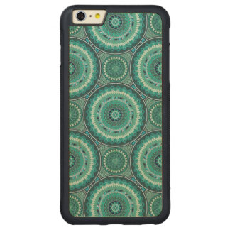 Boho mandala abstract pattern design carved maple iPhone 6 plus bumper case
