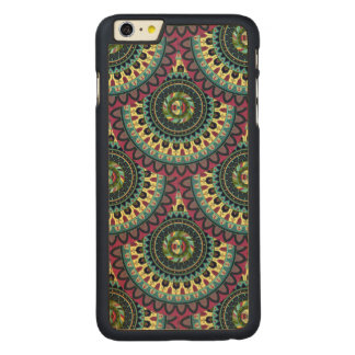 Boho mandala abstract pattern design carved maple iPhone 6 plus case