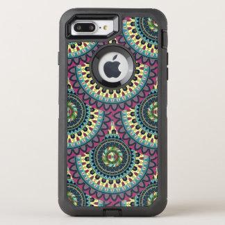 Boho mandala abstract pattern design OtterBox defender iPhone 7 plus case