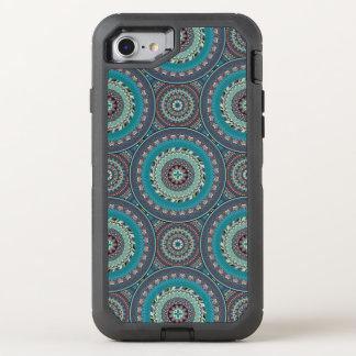 Boho mandala abstract pattern design OtterBox defender iPhone 8/7 case