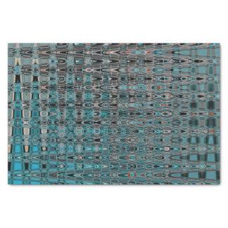 Boho Millefiori Mosaic Abstract Turquoise Orange Tissue Paper