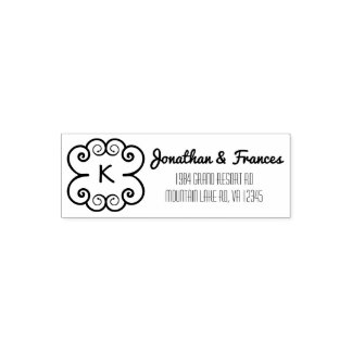 Boho Monogram | Wedding Couple Name Return Address Self-inking Stamp