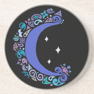 Boho Moon and Stars Drink Coaster