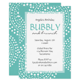 Boho Mosaic Tribal Birthday Aqua Card