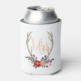 Boho Mrs. Antler Can Cooler