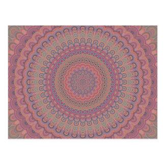 Boho oval mandala postcard