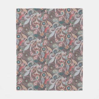 Boho Paisley Fleece Blanket