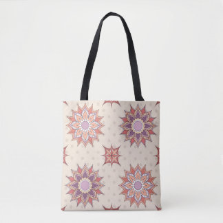 boho pattern with sends them tote bag